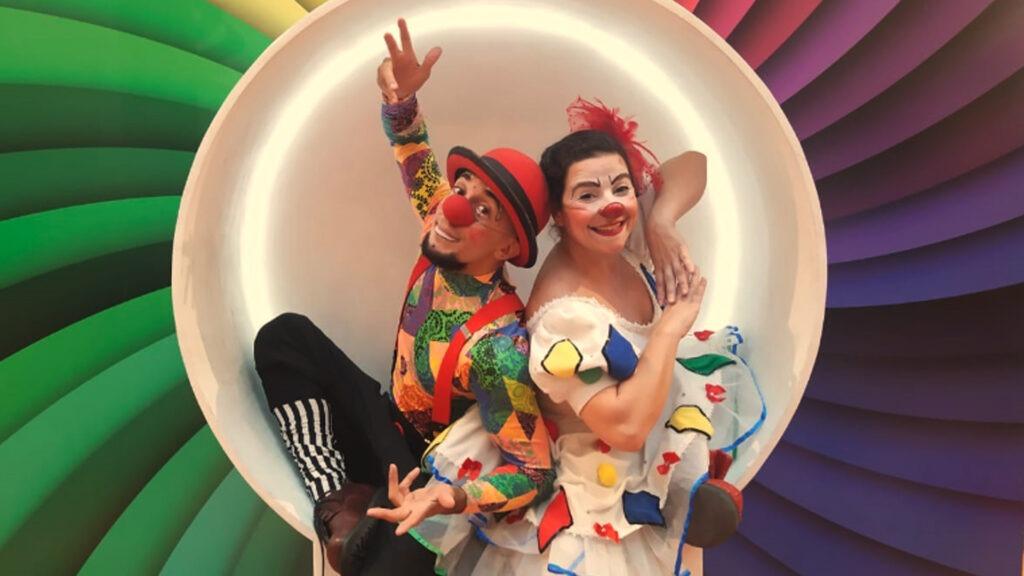 Show de circo no shopping